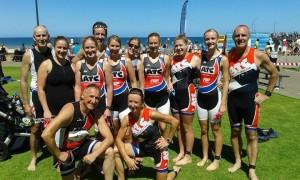 A great bunch of ATC athletes before the Glenelg Aquathlon.